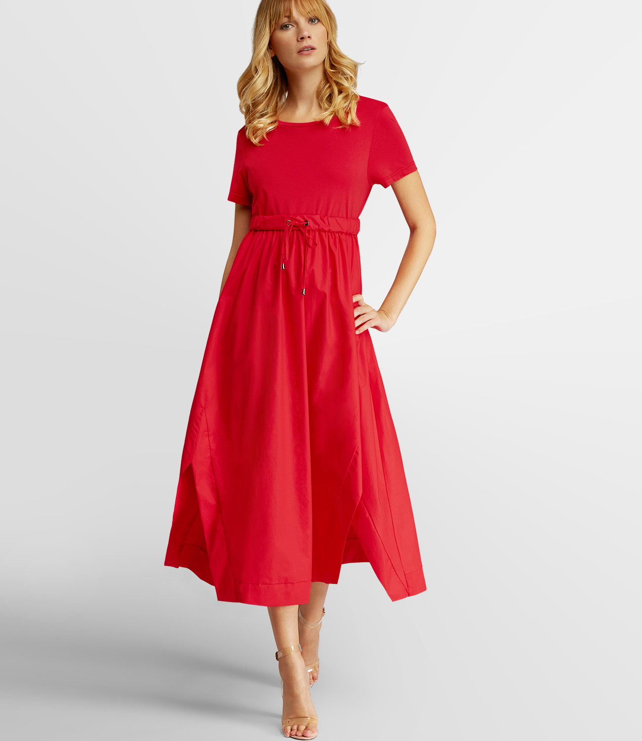 Langes rotes Sommerkleid | APART Fashion