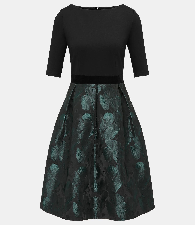 Jacquardkleid in Smaragd | Große Größen | APART Fashion