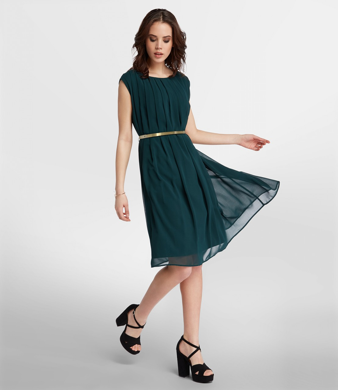Loose-Fit Chiffonkleid