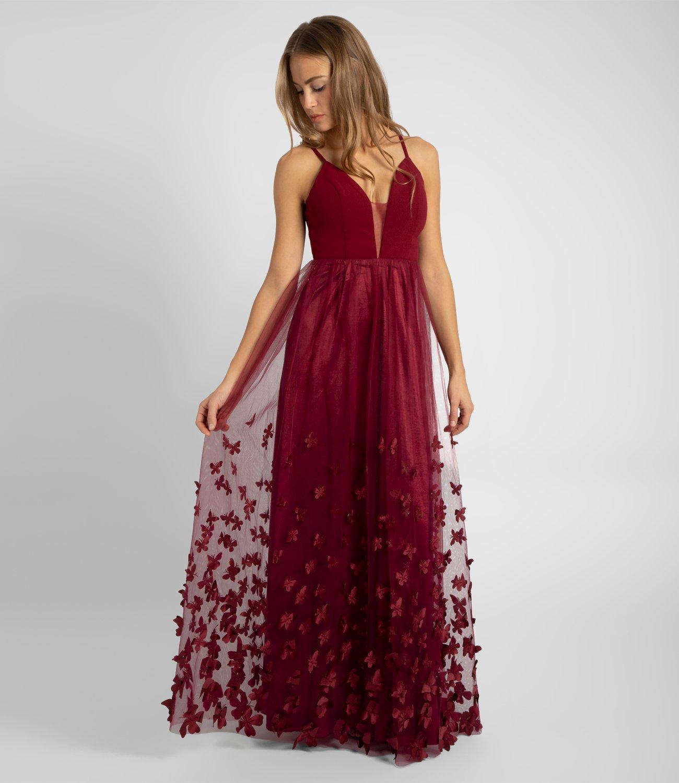 Abendkleid mit Schmetterlingen, bordeaux | APART Fashion