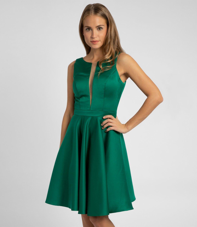 emerald grün cocktail kleid