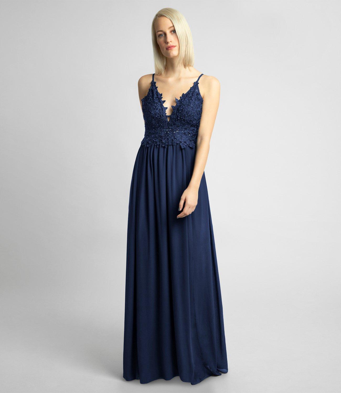 Abendkleid aus Chiffon und Spitze, rosé | APART Fashion