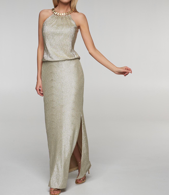 Langes, goldenes Abendkleid  APART Fashion