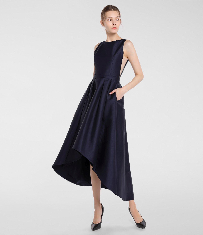 Abendkleid mit Mesh-Einsätzen, nachtblau | APART Fashion