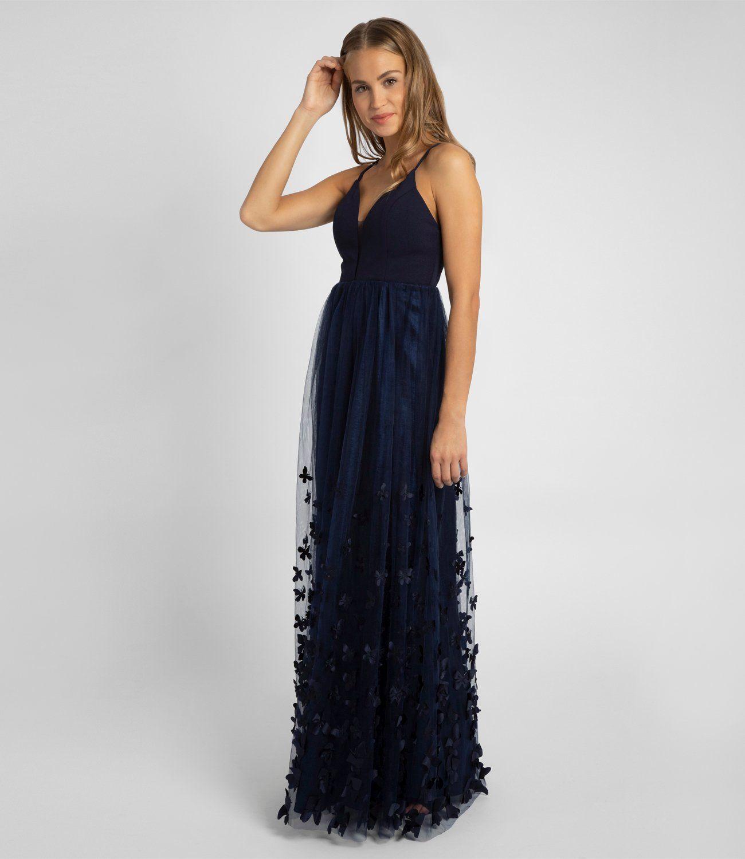Abendkleid mit Schmetterlingen, marine  APART Fashion